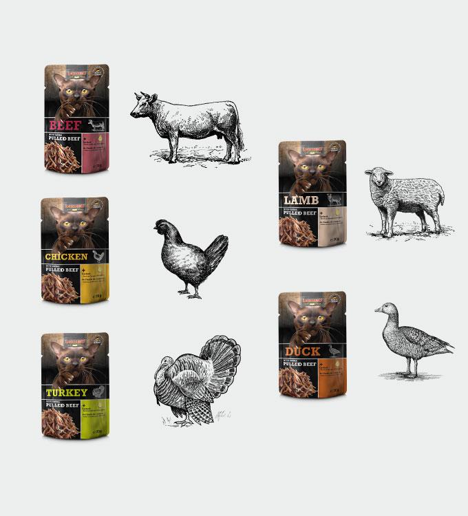 Pulled Beef Sortenvielfalt